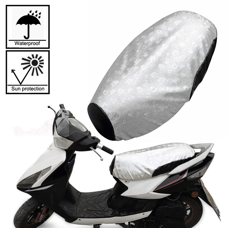Motorcycle Seat Cover Silver Durable Pads Heatproof(China)