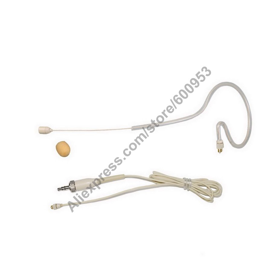 detachable super lightweight ear hook headset headworn head headwear microphone mic for