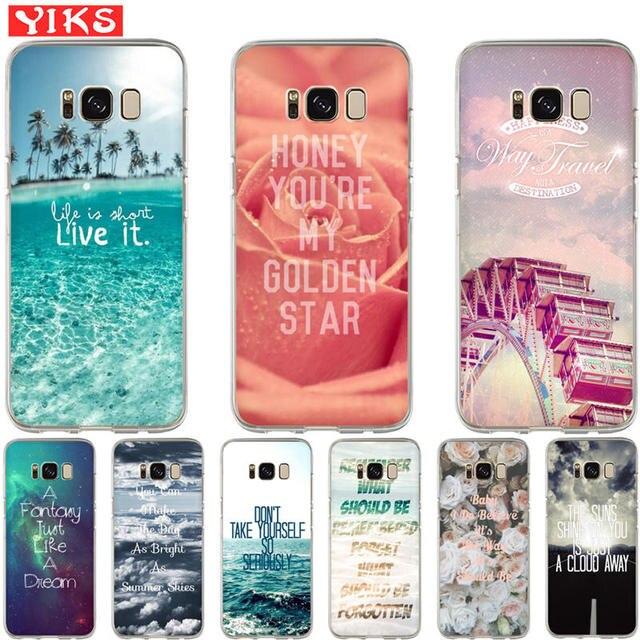 Tekst dekoracje kwiat morze Etui Do Samsung S8 S9 Plus Uwaga 8 miękkie  pokrywa Dla Samsung ec53e86efec5