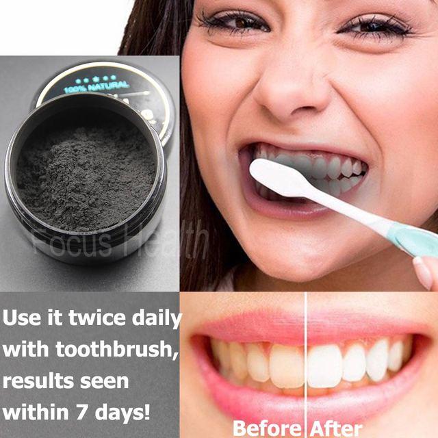 Clareamento Dos Dentes De Limpeza De Carvao Ativado Em Po Natural