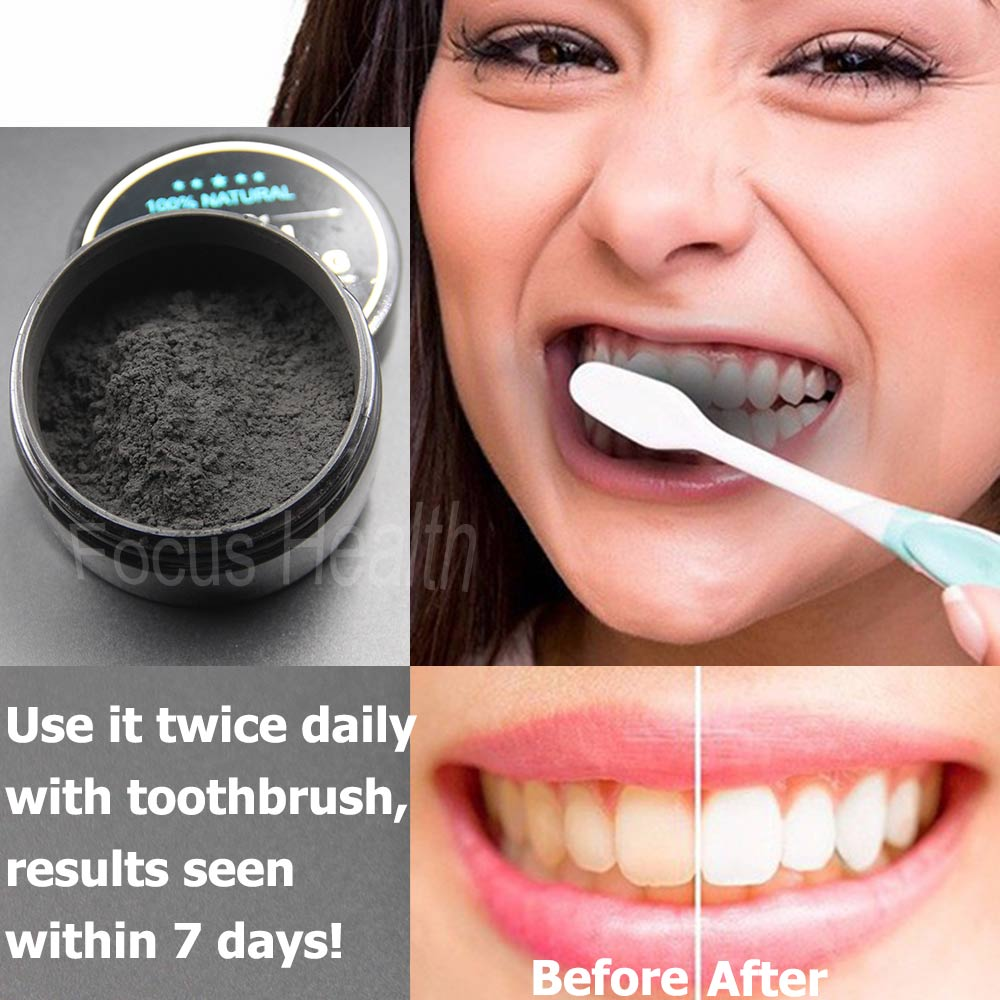 Teeth Whitening Cleaning Activated Charcoal Powder Natural