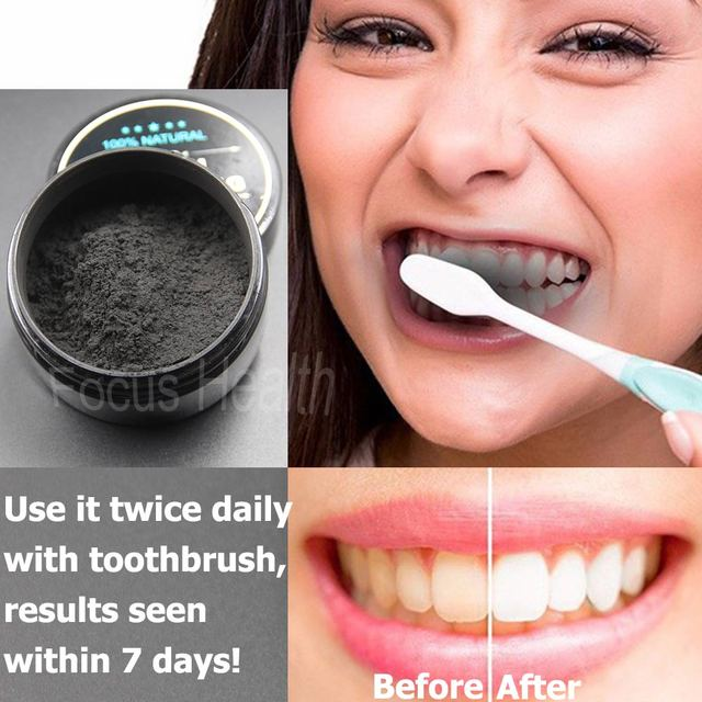 Teeth Whitening Cleaning Activated Charcoal Powder Natural Safe
