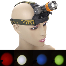 Headlight Headlamp Green Blue Red LED Head Torch Lantern Lamp Light AAA Battery for Hiking Camping Fishing Hunting
