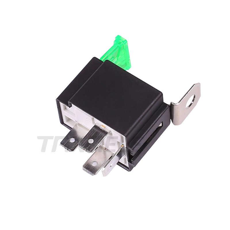 1 Pcs/set Auto Menyatu On/Off Relay DC12V 30A 4 Pin Elektronik Relay Mobil Otomotif Relay dengan Asuransi Film mobil Fuse
