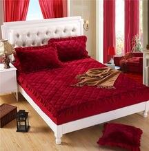 Теплое и мягкое покрывало для кровати юбка с кружевной каймой