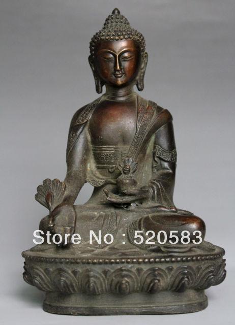 Rare Collectable Tibet Pure bronze Buddhism Sakyamuni Tathagata Buddha StatueRare Collectable Tibet Pure bronze Buddhism Sakyamuni Tathagata Buddha Statue