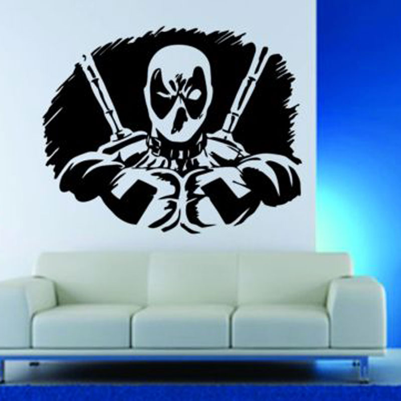 Wall Decor Vinyl Sticker Decal Deadpool Anti Super Hero Comics Mask E632