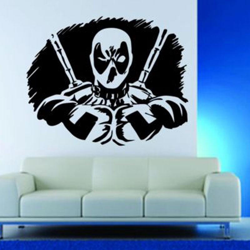 Wall Decor Vinyl Sticker Decal Deadpool Anti Super Hero Comics Mask E632