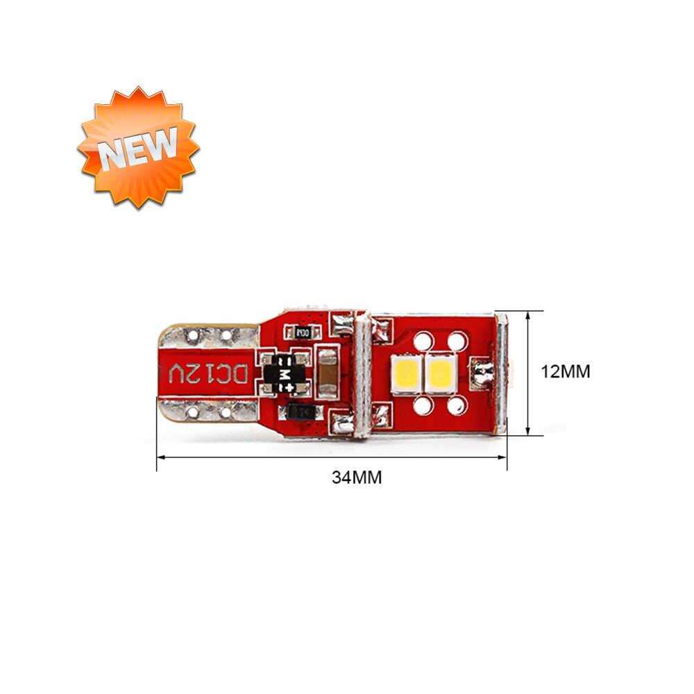 CN360 2 шт. Высоковольтная шина без ошибок SMD2835 T10 светодиодный W5W 168 194 автомобильный светодиод двери Чтение номерного знака Лампа 6000k
