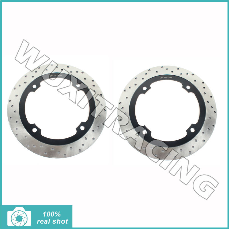 2pcs / 1pair 256mm Round New Front Brake Discs Rotors fit for Honda XL 600V Transalp 1997 1998 1999 2000 2001 2002 2017 new bikinis women swimsuit high waist bathing suit plus size swimwear push up bikini set vintage retro beach wear xl page 9