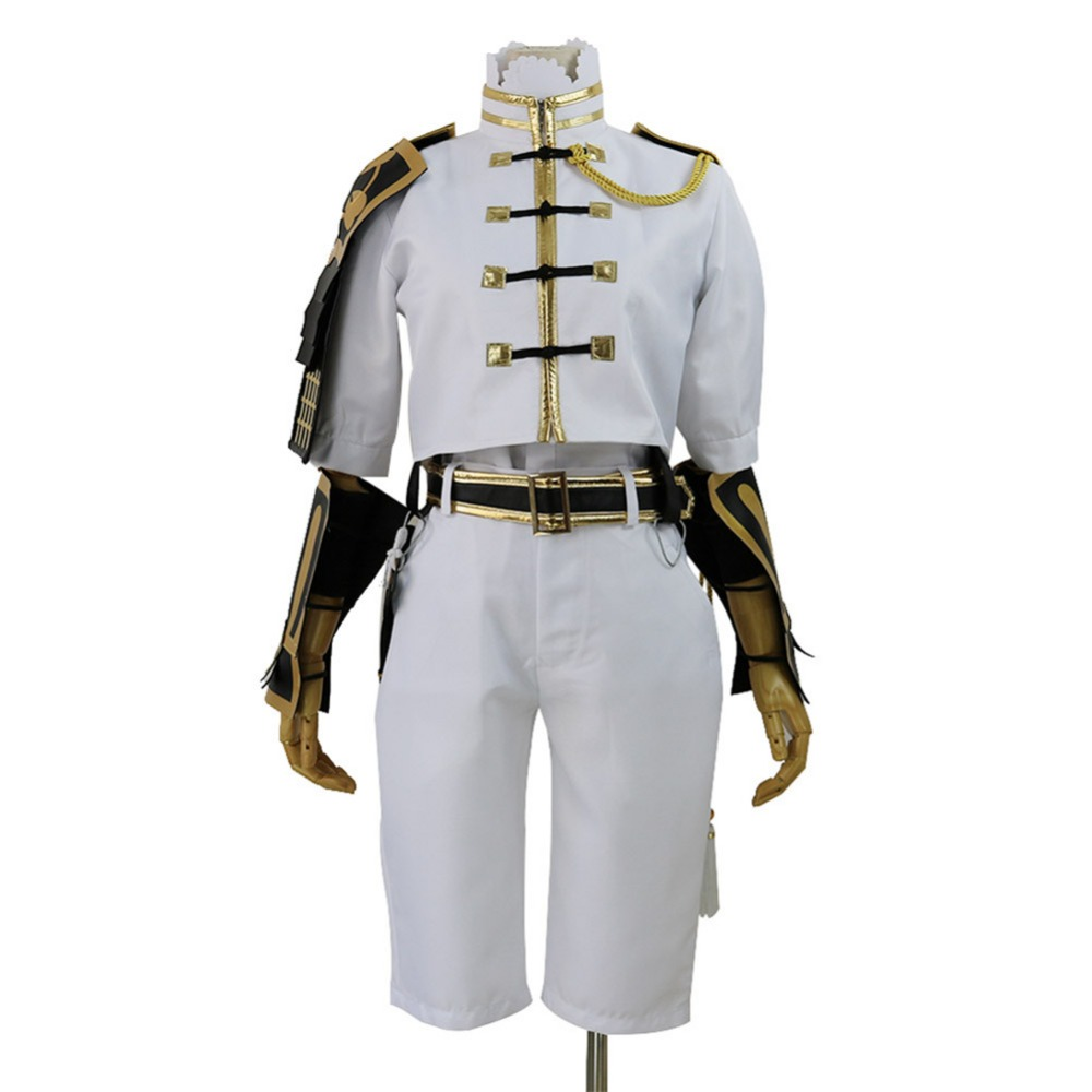 CGCOS Touken Ranbu Online Monoyoshi Sadamune Uniform Coat Dresses Anime Game Cosplay Costume Halloween Christmas Full set New
