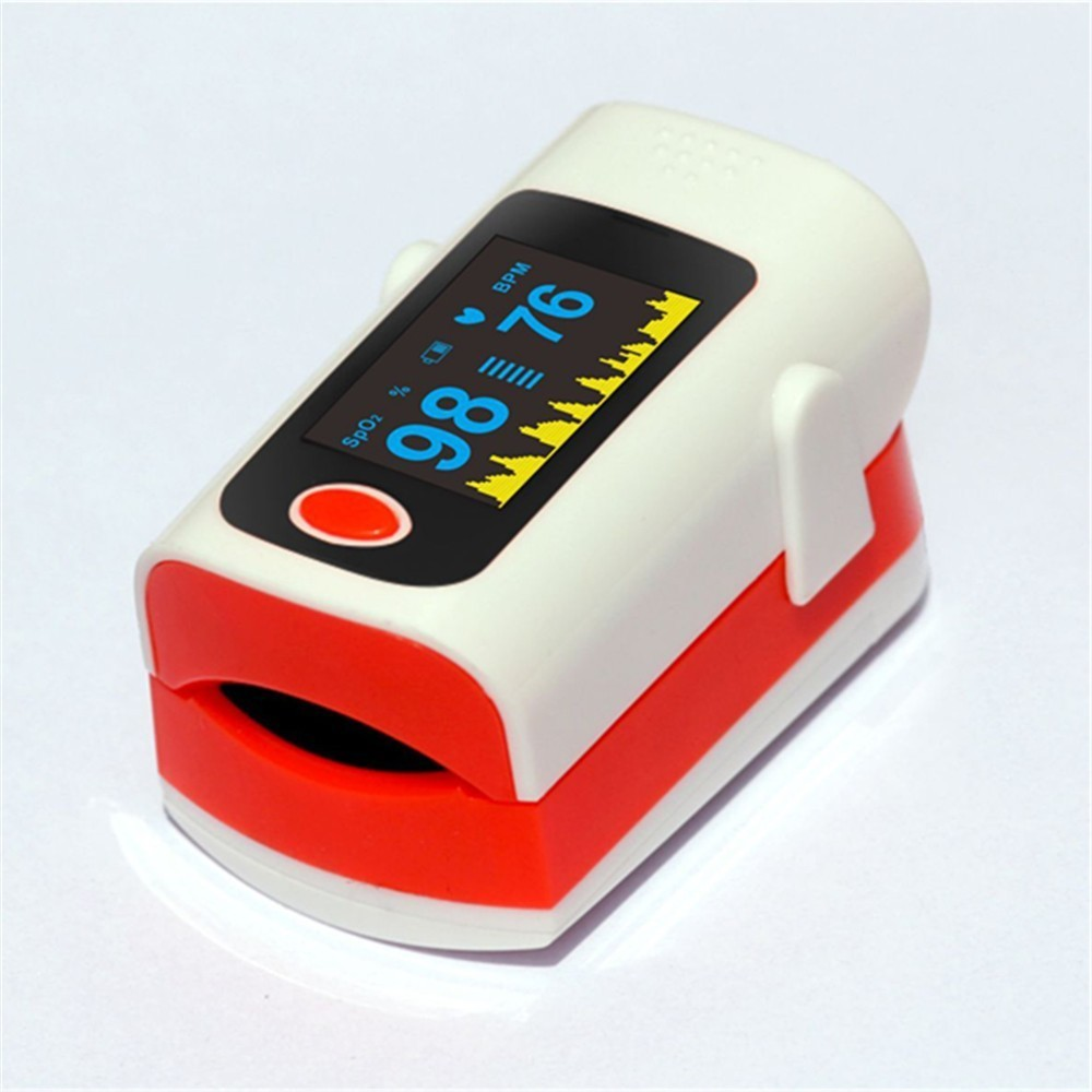 Type Pulse Oxygen Saturation Check Monitor Instrument Finger Pulse Oxygen Plan Heart Rate Blood Oxygen Meter Finger Oximeter(China)