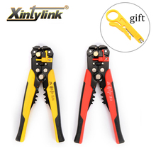 xintylink Multifunctional automatic stripper pliers Cable wire Stripping Crimping tools Cutting Multi Tool Pliers Hand tools free shipping multi function 5 in 1 electric needle nose pliers wire stripping cutting wire crimping pliers tools