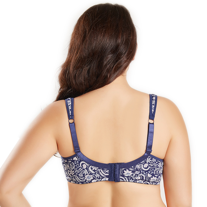 e274263c2c3 Women s Bra Plus Size Female Lingerie T Shirt Cup Full Figure Micro Bra  Lace Hidden Underwire And Cushion Strap Bralette pj6018-in Bras from  Underwear ...