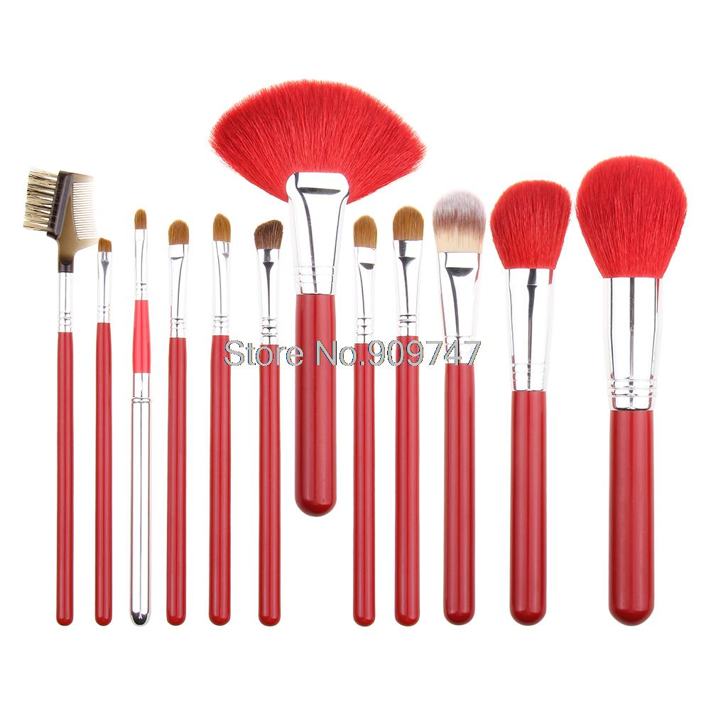 12Pcs goat hair bristles Makeup Brush Kit Cosmetic Brush Set foundation Brushes Tools beauty brush with shoulder bag аксессуар чехол occa lizard collection для apple iphone 6 6s plus
