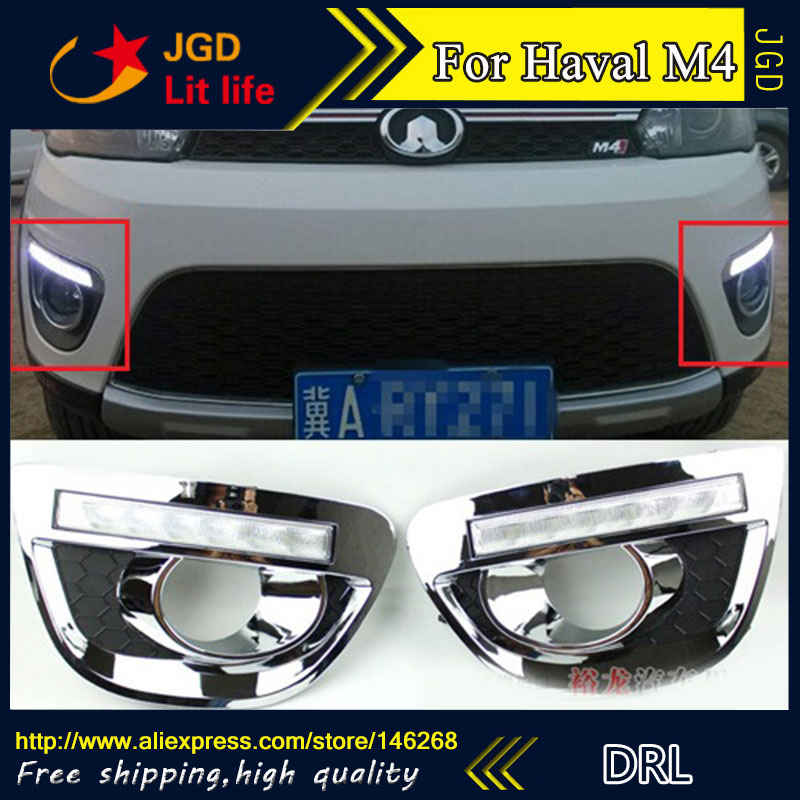 Free shipping ! 12V 6000k LED DRL Daytime running light for Haval M4 fog lamp frame Fog light Car styling