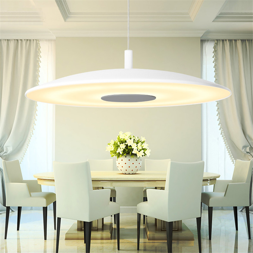 New Nordic Single Head Led Pendant Lamp, Modern Minimalist Dining Room White Hanging Light Lamparas Colgantes for Home Lighting