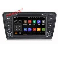 8inch 2din HD Capacitive Screen Car Dvd Player Gps Navigator For SKODA Octavia 2014 With Mirror
