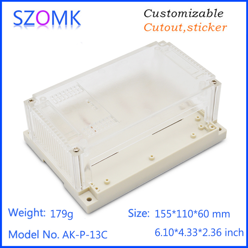 szomk plastic din rail enclosure electronics box PLC instrument plastic housing case plastic junction box (8)