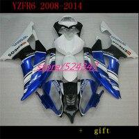 B YZFR6 2008 2014 2009 Full Body Kits White Blue black for YZFR6 2012 Full Body Kits Motorcycle Accessories & Parts