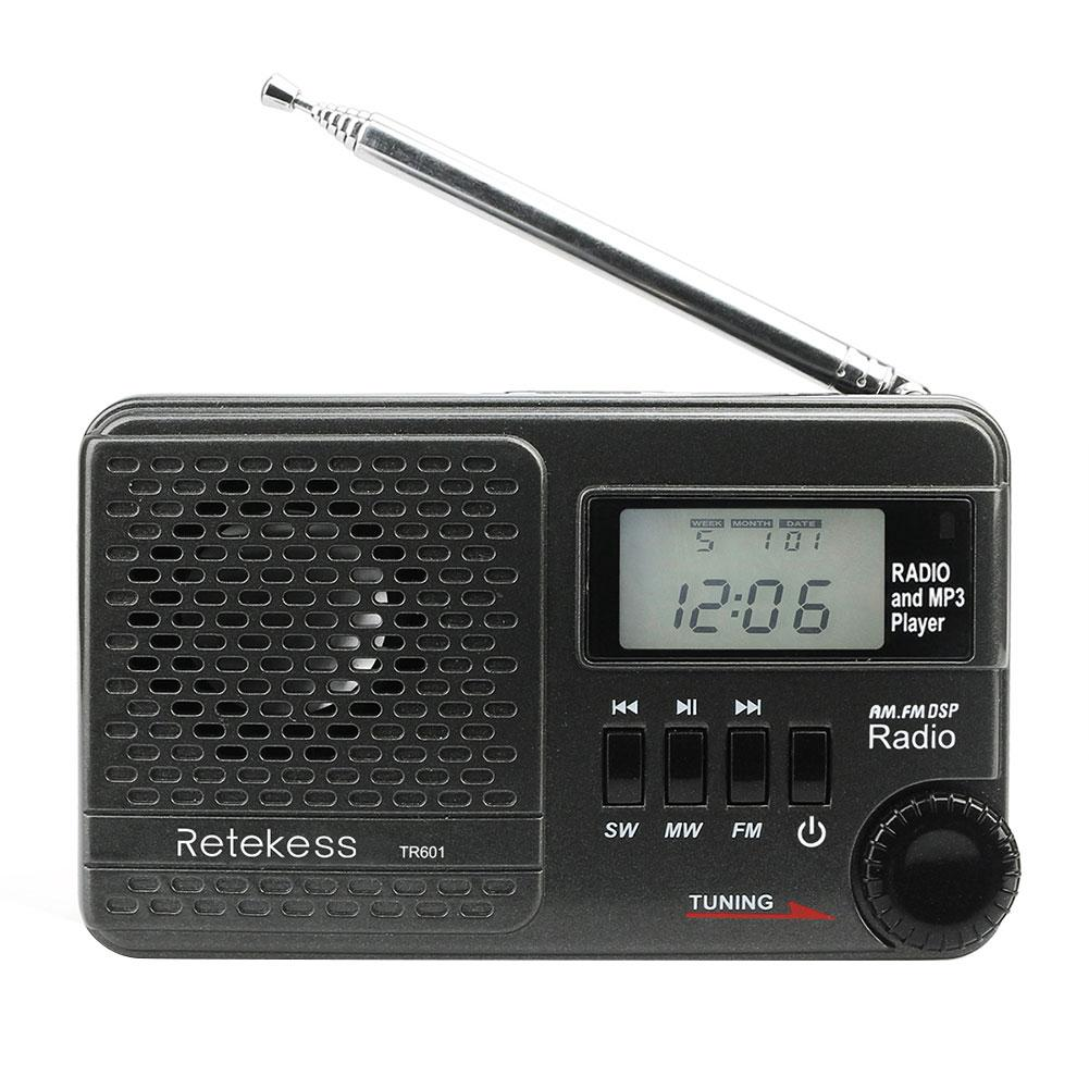 2019 TR601 Radio FM/AM/SW Multiband Radio Receiver REC Recorder Bass Sound MP3 Player Speakers With Sleep Timer Radio Receiver