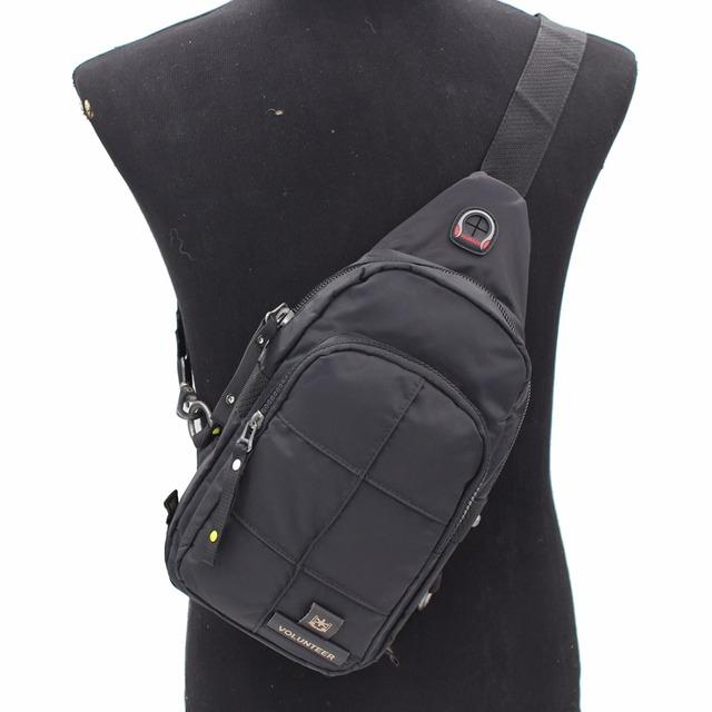 Novos Homens Oxford Único Dia Pacote Mochila Peito Masculino Ocasional Mensageiro Sling bolsa de Ombro Bolsa Cruz Body Bags Designer de Volta À Prova D' Água