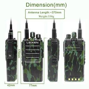 Image 5 - LEIXEN Note haute puissance 20W UHF 400 480MHz FM Radio bidirectionnelle longue Distance talkie walkie noir émetteur récepteur Interphone