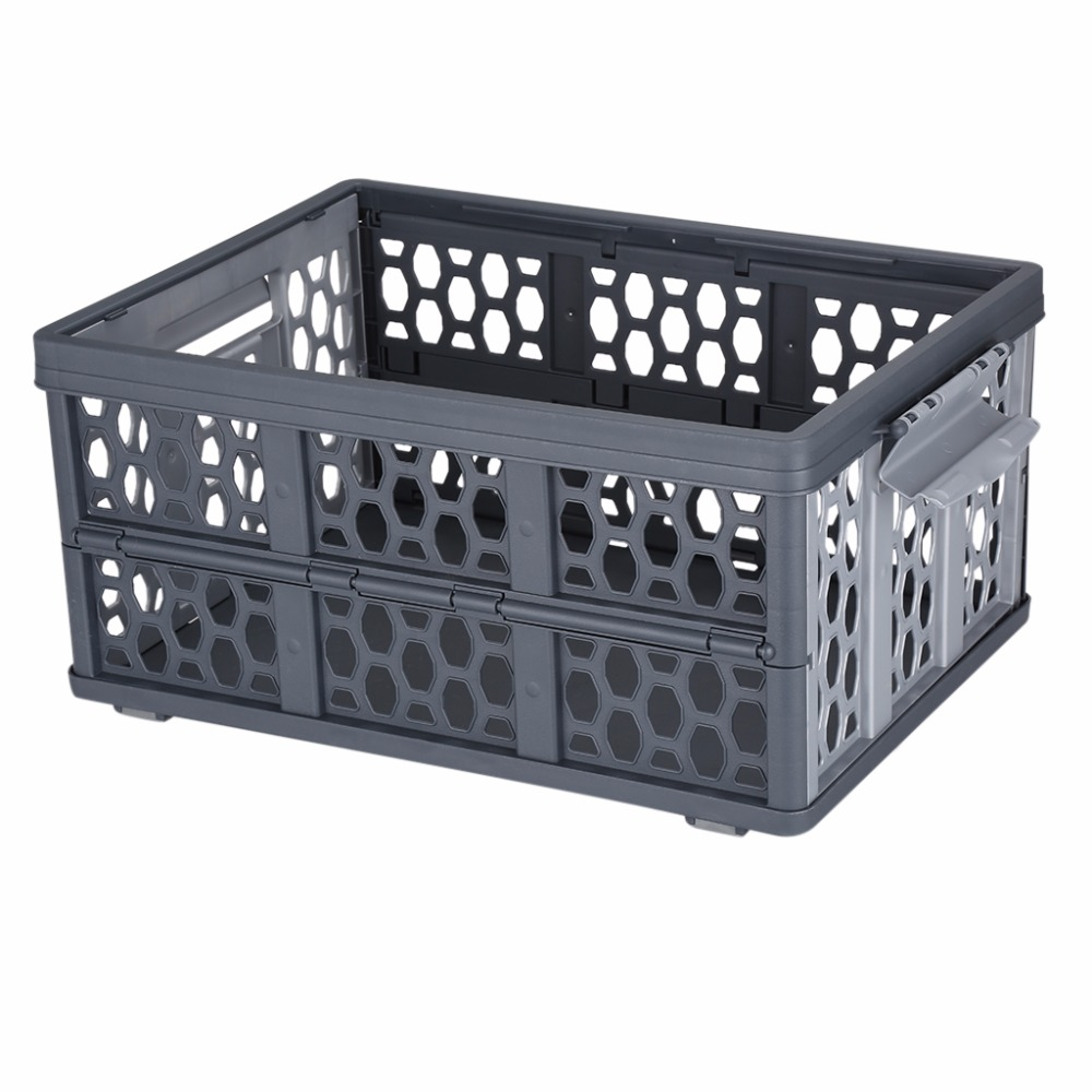 Superieur Finether Collapsible Utility Plastic Storage Container Crate Box Basket  FOLD STORAGE CRATE With Detachable Waterproof Bag 28L In Storage Baskets  From Home ...