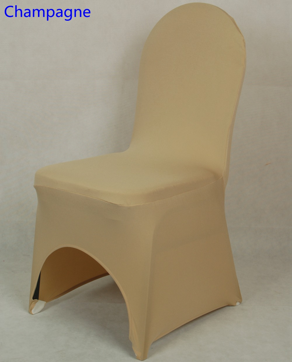 Sensational Us 1 6 Champagne Colour Chair Covers Spandex Chair Covers China Universal Lycra Chair Cover Dining Chair Kitchen Washable Thick In Chair Cover From Machost Co Dining Chair Design Ideas Machostcouk