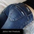 2016 Новая Мода Sexy Slim Fit Джинсы Женщины Карандаш Брюки осенью И Зимой Узкие Брюки Леди Джинсы Femme Плюс размер