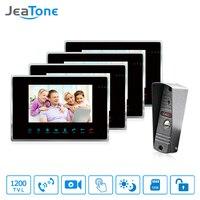 JeaTone 7 1200TVL High Resolution Color Video Door Phone Intercom System 1200TVL Outdoor Doorbell Camera With