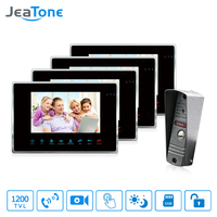 JeaTone 7 1200TVL High Resolution Color Video Door Phone Intercom System 1200TVL Outdoor Doorbell Camera With