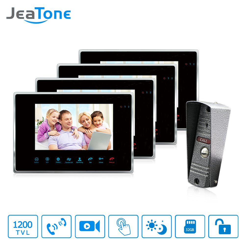 JeaTone 7High Resolution video Door Phone Intercom System support unlock door Doorbell with 1200TVL camera JeaTone 7High Resolution video Door Phone Intercom System support unlock door Doorbell with 1200TVL camera