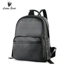 Latue Seed Genuine Leather Backpack Female Bag 2018 New Casual Fashion Backpack Solid Black Brand Bag 888-549D-B latue seed oxford cloth ladie backpack trend 2018 new wild fashion casual nylon solid black soft 904 641d b
