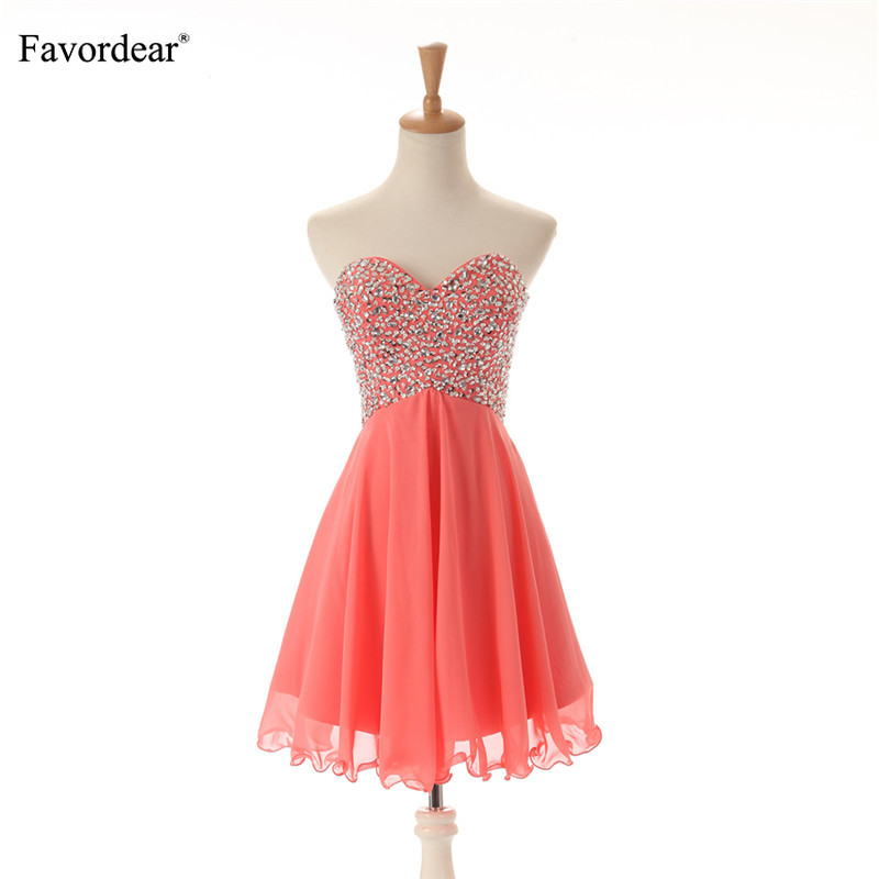 Favordear 2019 New Sparkly beadings Formal   Dress   Sweetheart Lace up Individuality   Cocktail     Dresses   vestidos cortos para fiesta