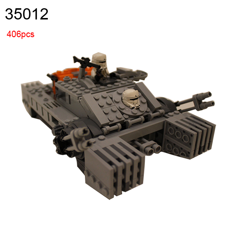 35012 405pcs Star Wars Rogue One A Story Imperial Assault Hovertank Building Block Compatible 75152 DIY Bricks Toy 1pc imperial death trooper rogue one 75156 diy figures star wars superheroes assemble building blocks kids diy toys xmas