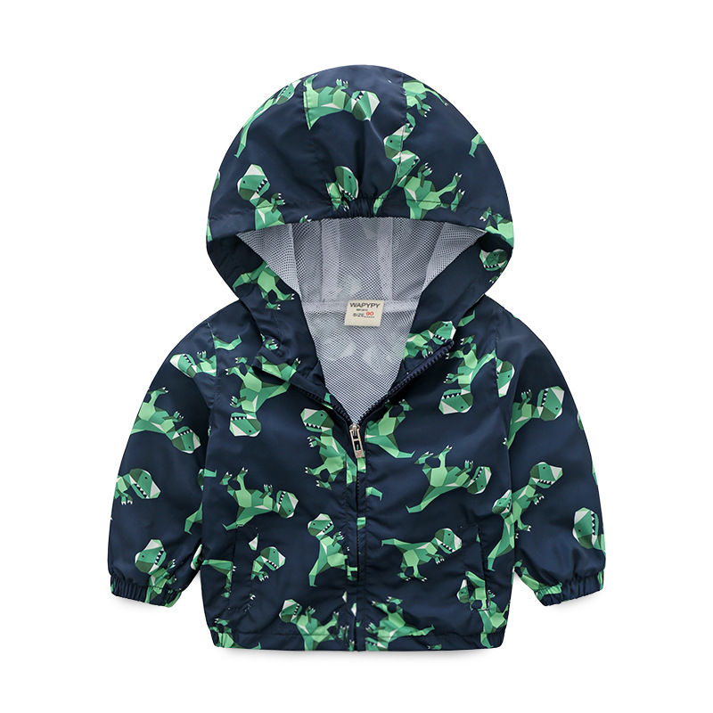 3 8 Years Old Fashion Dinosaur Jacket For Kids Windbreaker Boys Coat Kids Jacket Spring Autumn Children Clothing in Jackets Coats from Mother Kids