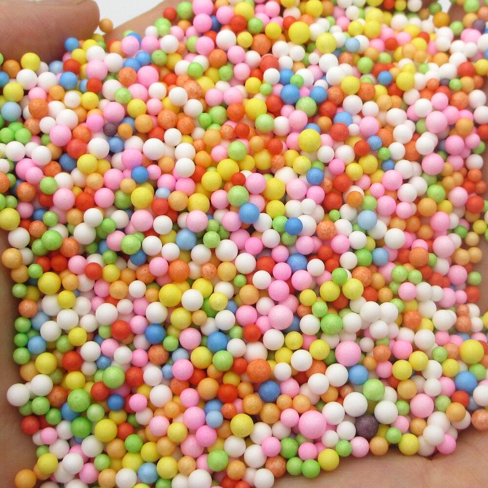 900 Stuks 2-10mm Mini Gekleurde Ronde Schuim Ballen Crystal Fles Decoratie Kussen/sofa Filler Piepschuim Bal Diy Kerst Versieren