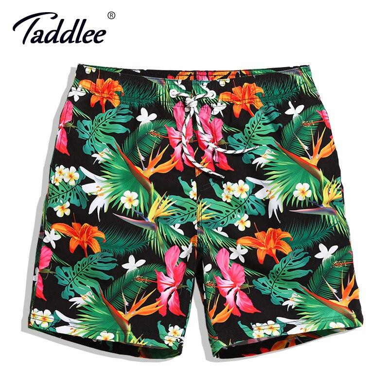Taddlee Brand Men Board Shorts Swim Beach Boxer Trunks Shorts Quick Drying Men's Swimwear Swimsuits Sports Running Bottoms New цена