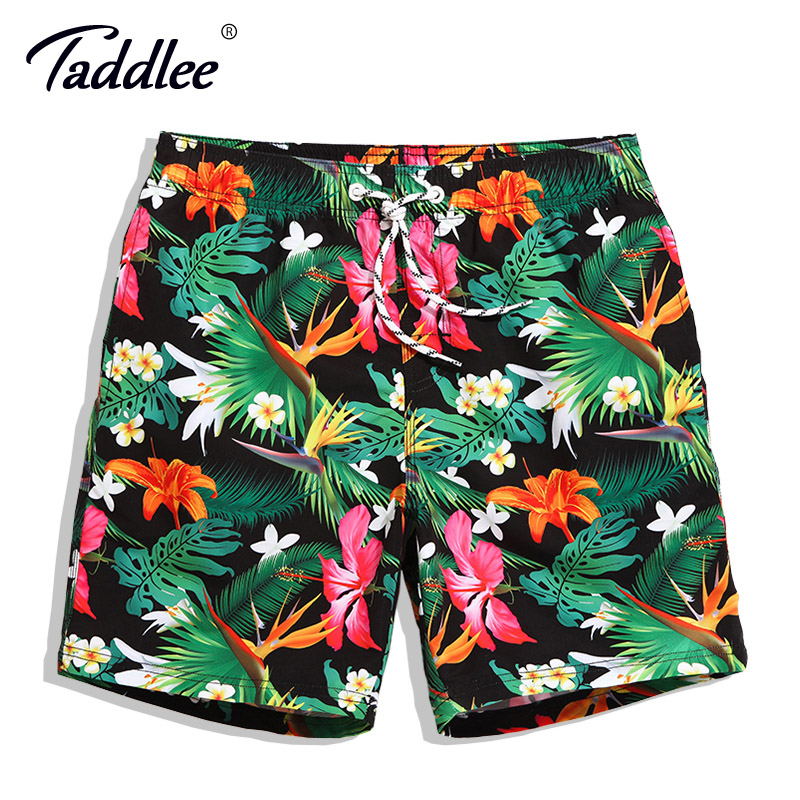 Taddlee Brand Men   Board     Shorts   Swim Beach Boxer Trunks   Shorts   Quick Drying Men's Swimwear Swimsuits Sports Running Bottoms New