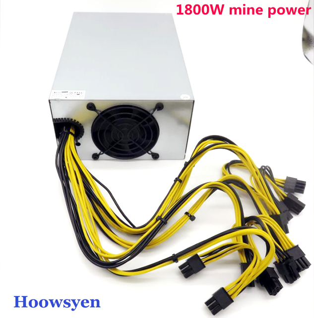 Mining case eth for BTC LTC DASH miners Riser Adapter Power for Ant power supply 1800W special power supply for gold medal data mining for core banking systems