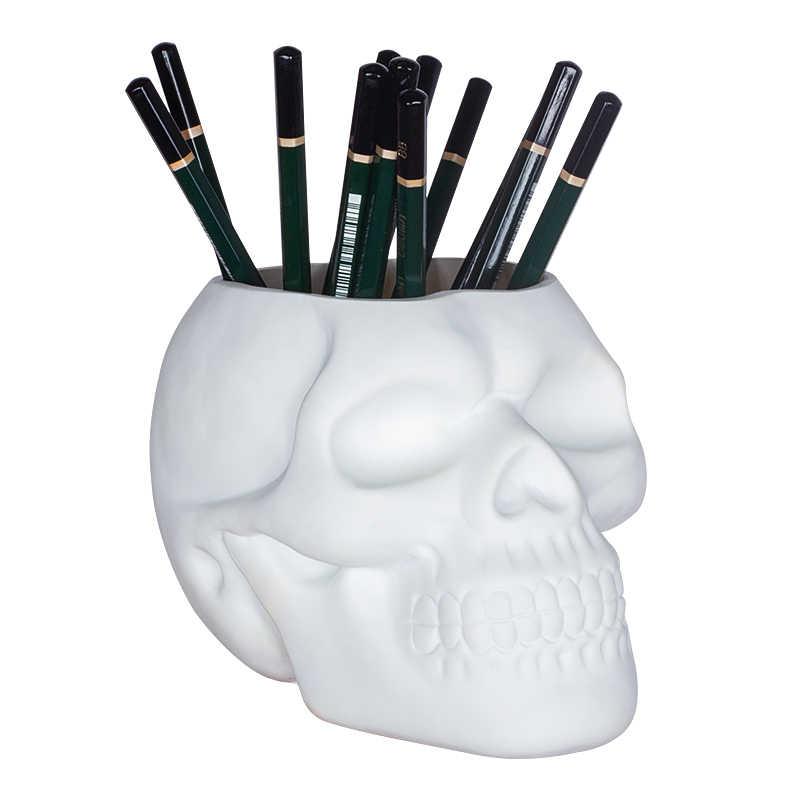 البلاستيك الجوف الهيكل العظمي الجمجمة شمعة حامل الحلي بار حفلة Ktv الحلي أحمر/أسود/أبيض رأس بشري جرة تخزين المجوهرات