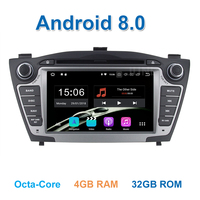 4GB RAM 1024 600 Pure Android 8 0 Car DVD For Hyundai IX35 Tucson 2011 2012