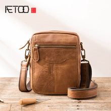 AETOO Top Sell Fashion Classic Solid Famous Brand Business Men Briefcase Genuine Leather Office Bag Casual Man Shoulder Bags