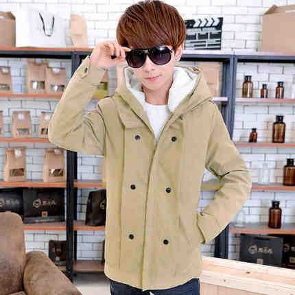 ФОТО Mens Winter Warm Thick Down Parka Hooded Long Section Solid Padded Coat 2016 Fashion Long Sleeve Warm Parkas Coats A4586