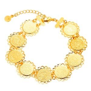 Image 1 - Islamic Arabic Style Men Women Cold color Ancient Coins Bracelet Jewelry