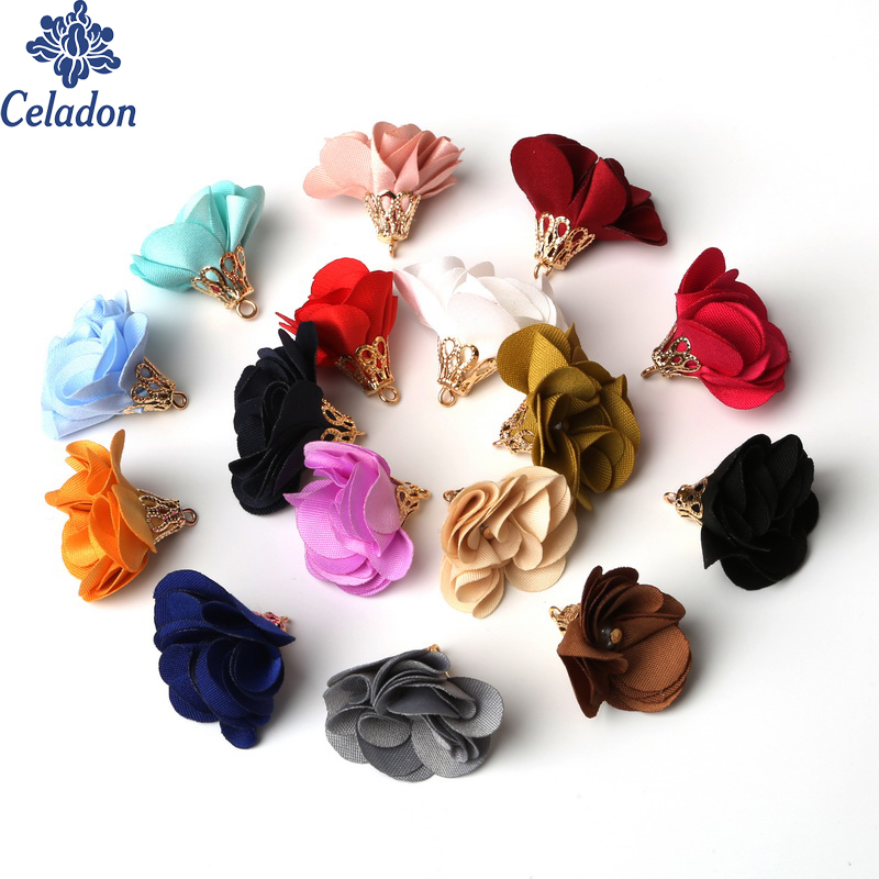 Super Cute Flower Shape Tassel Ornament Small Pearl Tuckle Torch Plating Gold Bell For DIY Dress Decoration House Curtain Decor