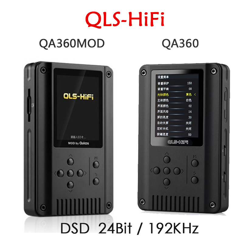 Newest QLS QA360 / QA360 MOD Portable High Resolution Lossless HiFi DSD Music Player Digital 24Bit/192 kHz MP3 Music Player newest aune m1s portable professional lossless music mp3 hifi music player dap supported wam flac dsd ape mp3 alac aac