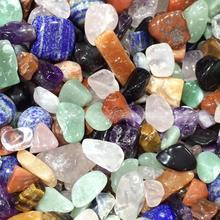 AAAA++1000g Natural crystal color mix natural quartz crystal rough polished gravel specimen natural stones and minerals