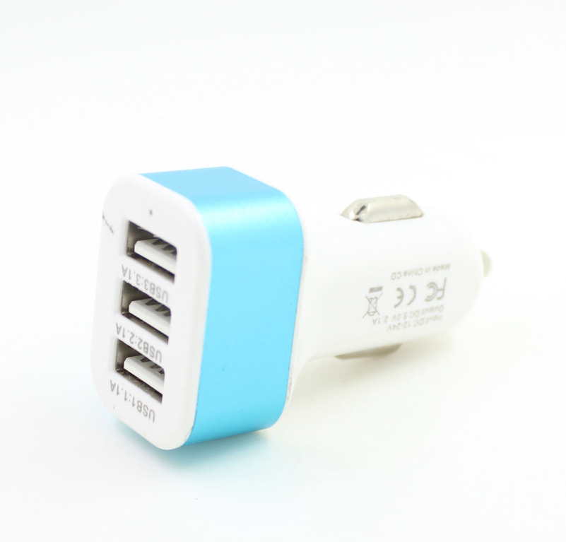 Triple Universal <font><b>USB</b></font> <font><b>Car</b></font> <font><b>Charger</b></font> <font><b>3</b></font> <font><b>Port</b></font> <font><b>Car</b></font>-<font><b>charger</b></font> <font><b>Adapter</b></font> Socket 2A 2.1A 1A <font><b>Car</b></font> Styling <font><b>USB</b></font> <font><b>Charger</b></font> For <font><b>Car</b></font>-Styling image